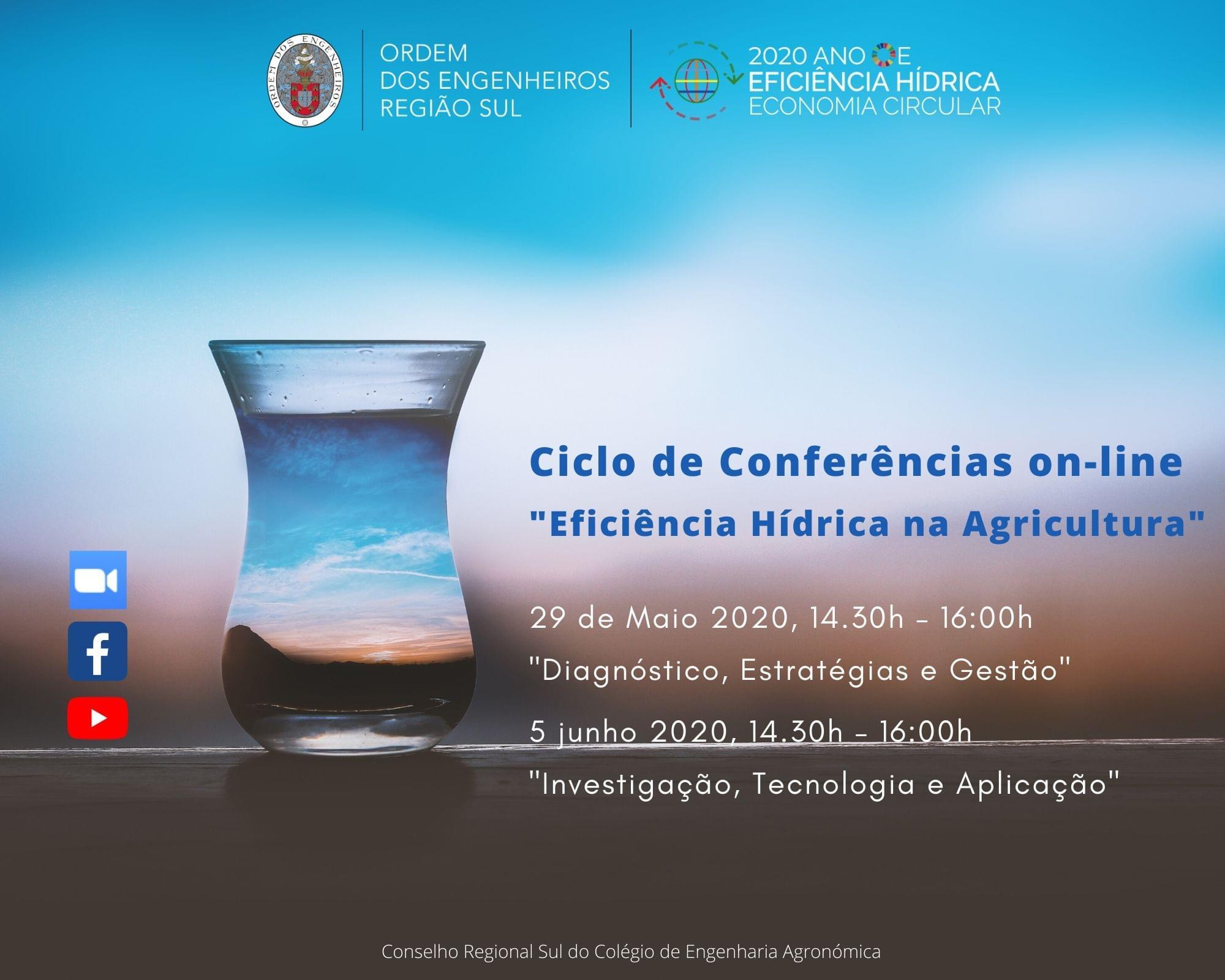 """Ciclo de Conferências online sobre """"Eficiência Hídrica na Agricultura"""""""